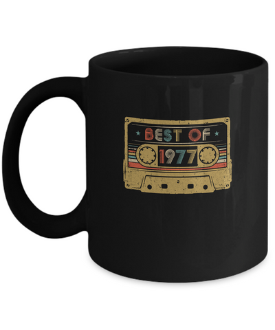 Vintage Cassette Best Of 1977 42th Cassette Birthday Gifts Mug