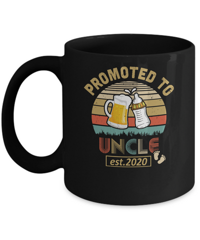 Promoted To Uncle Est 2020 Vintage Arrow Mug