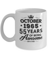 Vintage 1965 October 55Th Birthday Gift Being Awesome Mug