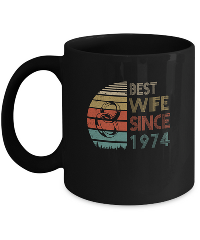 45th Wedding Anniversary Gifts Best Wife Since 1974 Mug