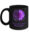 Being Strong Daisy Flower Purple Pancreatic Cancer Mug