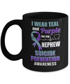I Wear Teal And Purple For My Nephew Suicide Prevention Mug