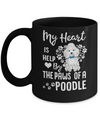 My Heart Is Held By The Paws Of A Poodle Lover Mug