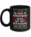 2019 First Christmas With My Hot New Husband Ugly Sweater Mug