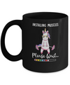 Installing Muscles Please Wait Funny Unicorn Fitness Mug