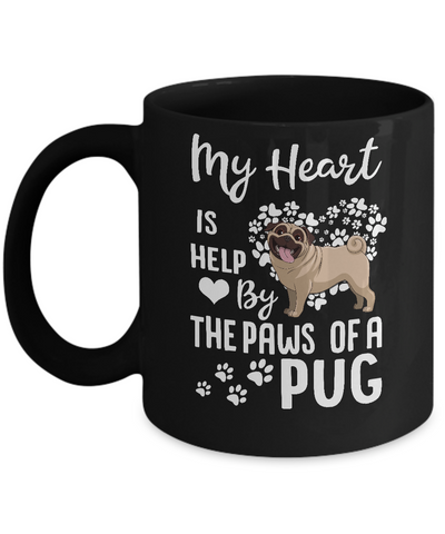 My Heart Is Held By The Paws Of A Pug Lover Mug