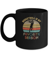 Basketball Is My Favorite Season Vintage Mug