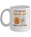 Poodle Autumn It's The Most Wonderful Time Of The Year Mug