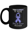 I Wear Periwinkle For Myself Support Stomach Cancer Awareness Mug