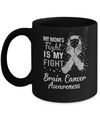 My Mom's Fight Is My Fight Brain Cancer Awareness Mug