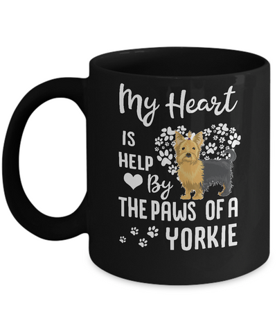 My Heart Is Held By The Paws Of A Yorkie Lover Mug