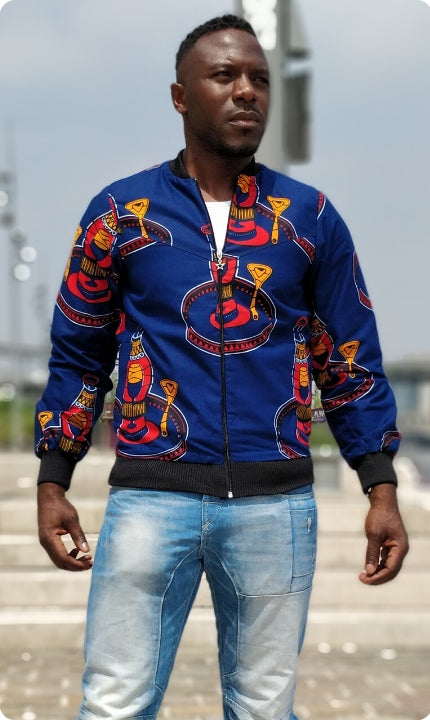 Blue Congo men's bombers