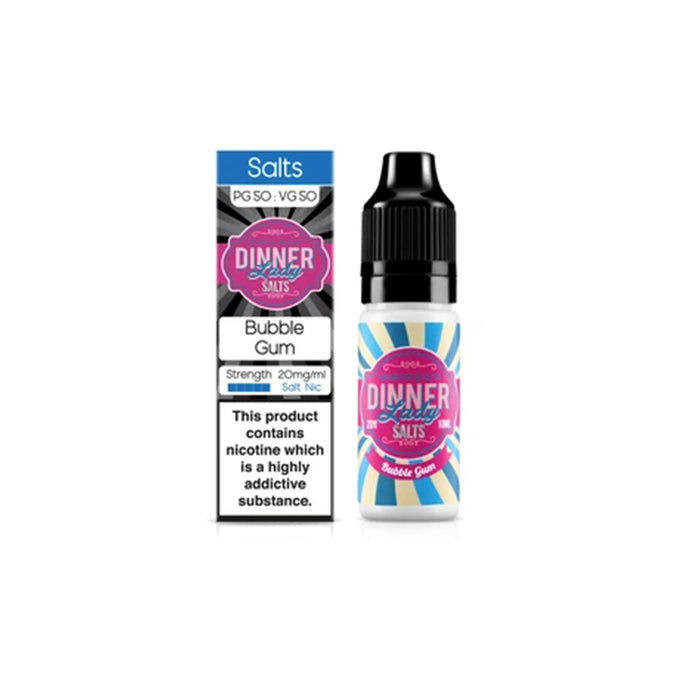 E-liquide Bubble Gum Sel de Nicotine Dinner Lady (5156465639561)