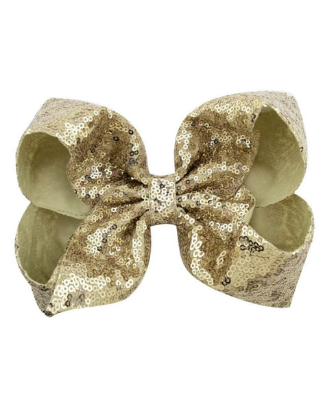 7 Inch Gold Sequence Jumbo Bow