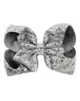7 Inch Silver Sequence Jumbo Bow