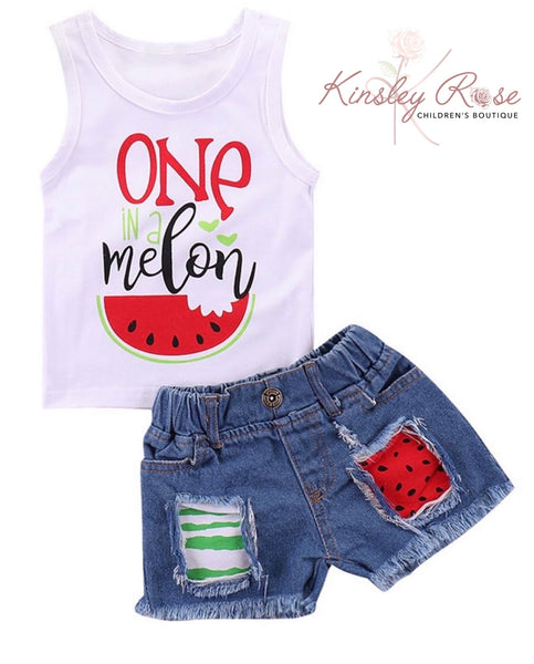One in a Melon Shorts Set