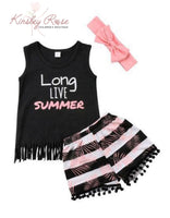 Long Live Summer Shorts Set with Headband