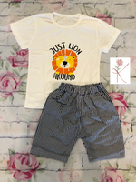 Just Lion Around Shorts Set