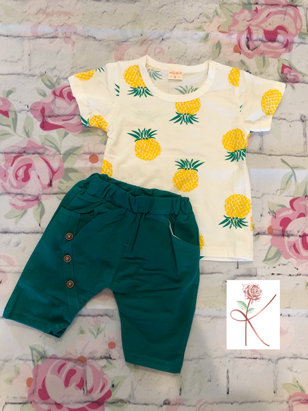 Pineapple Shorts Set