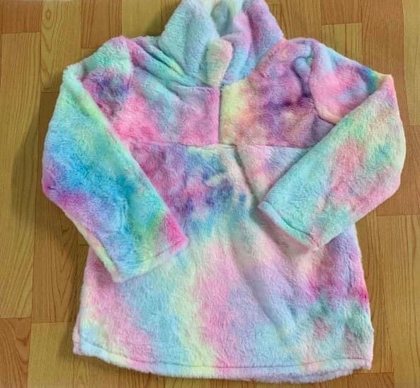Adult Mommy and me tie dye Sherpa