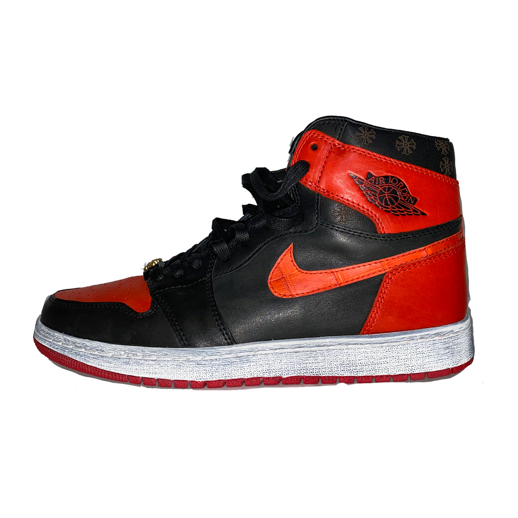 INNER ALCHEMY Customized AJ1 Bred Chrome Hearts
