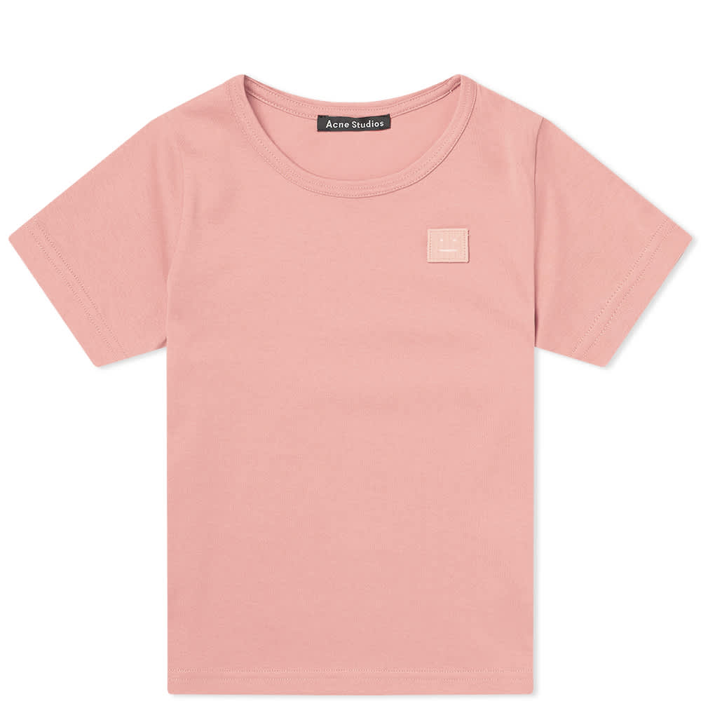 Acne Studios Mini Nash Face Tee Pink