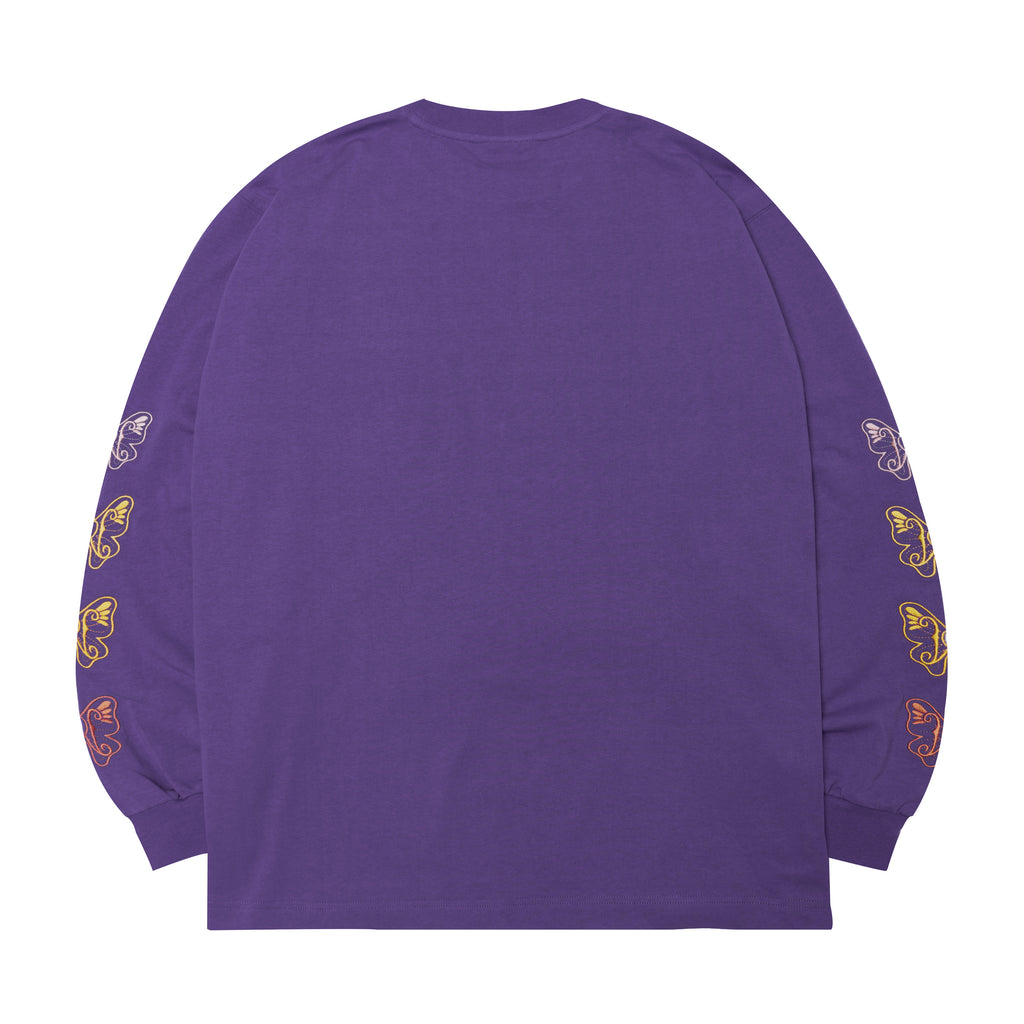 WHOOSIS Butterfly Long-sleeved T-shirt Purple