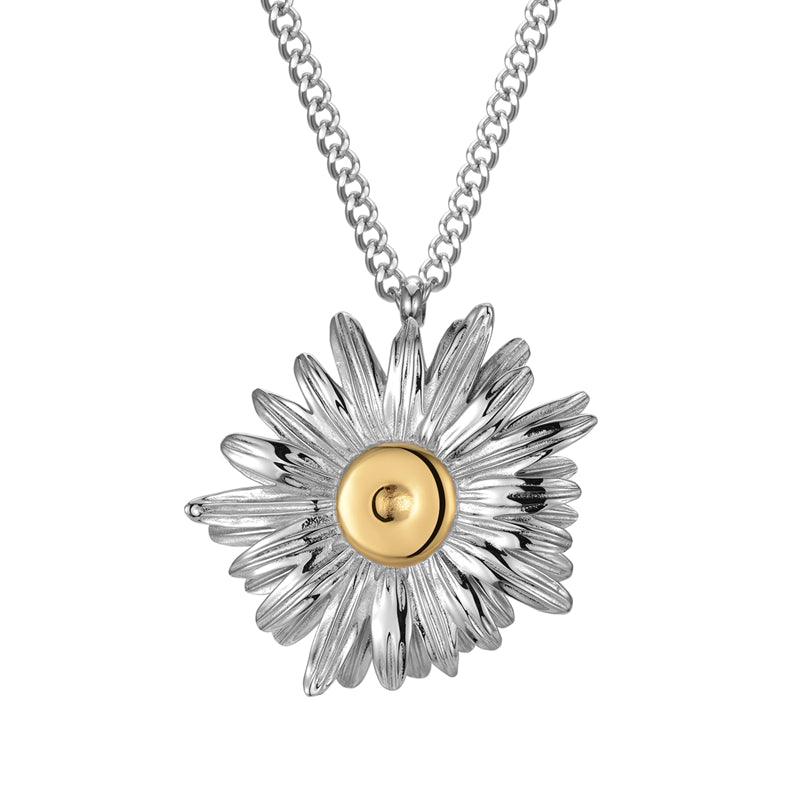 LURS 2020SS Double Gold-plated Daisy Necklace
