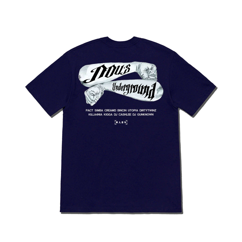 OCCUPY NOUS TATTOO TEE BLUE