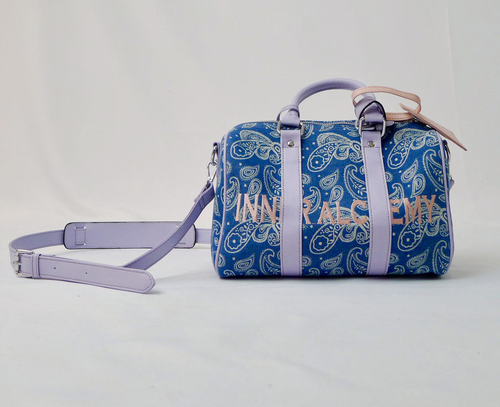INNER ALCHEMY Cashew Flower Hand Bag Blue