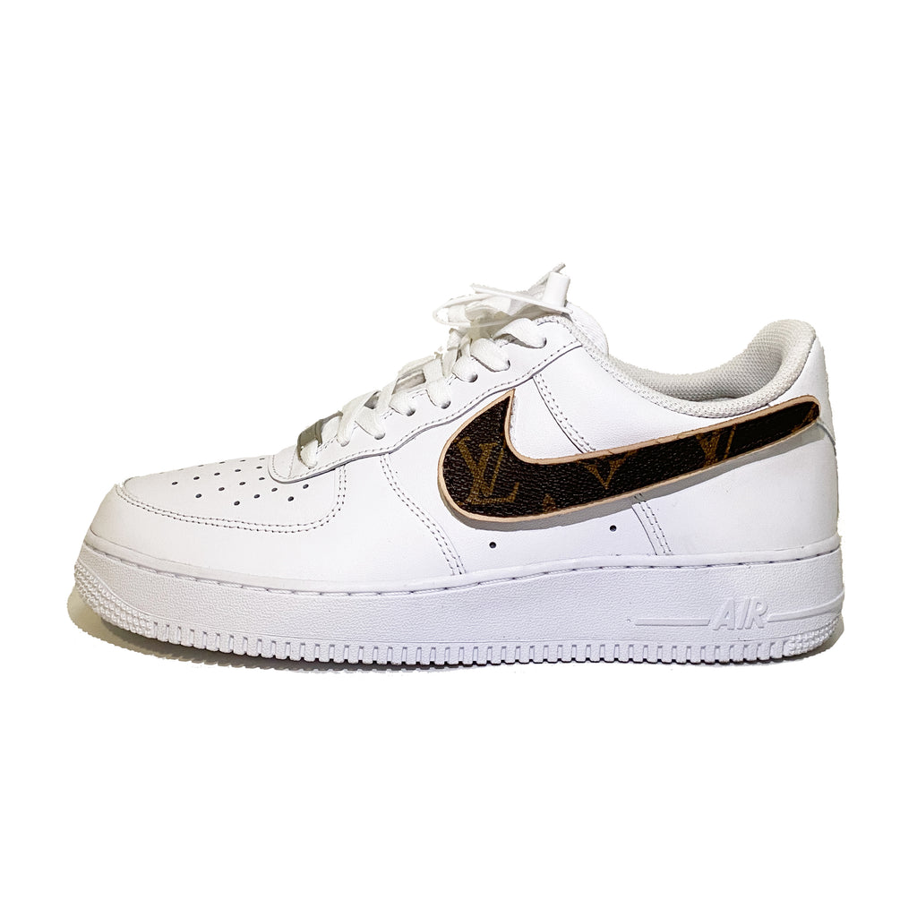 INNER ALCHEMY Customized Hook-and-loop Swoosh AF1 White