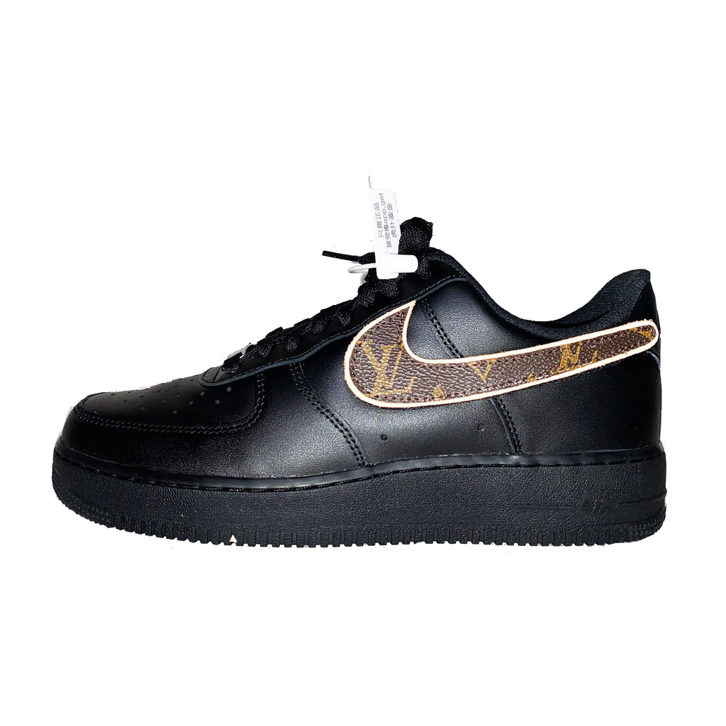 INNER ALCHEMY Customized Hook-and-loop Swoosh AF1 Black