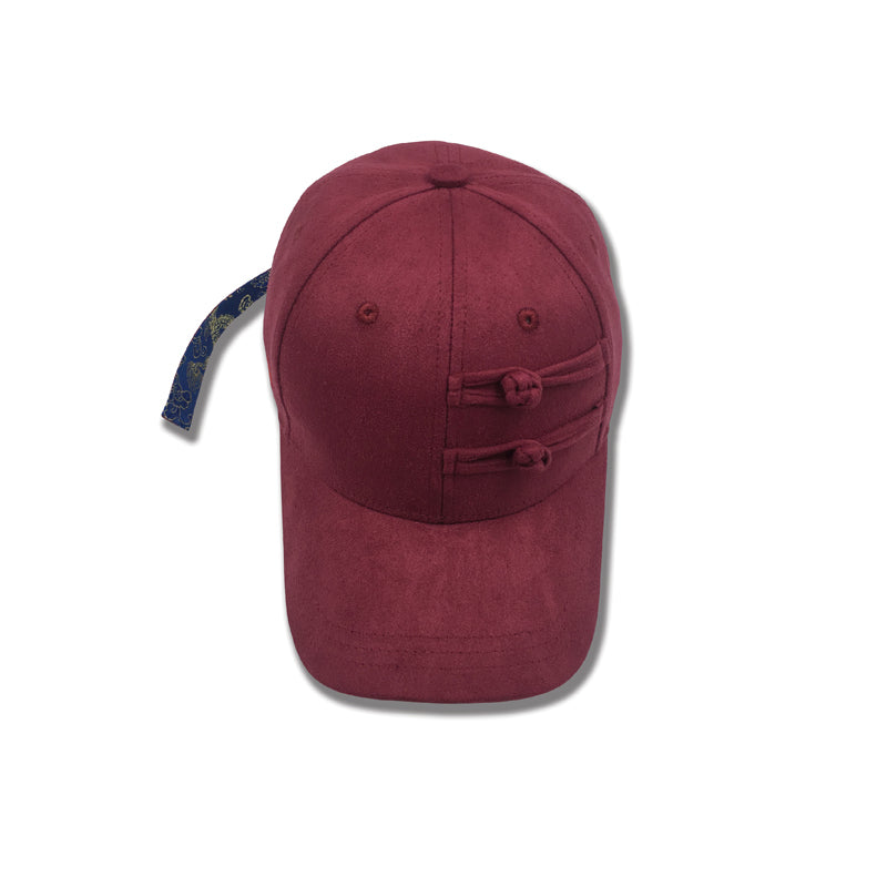 Xotic Chinese Knot Long Strap Cap Red&Red