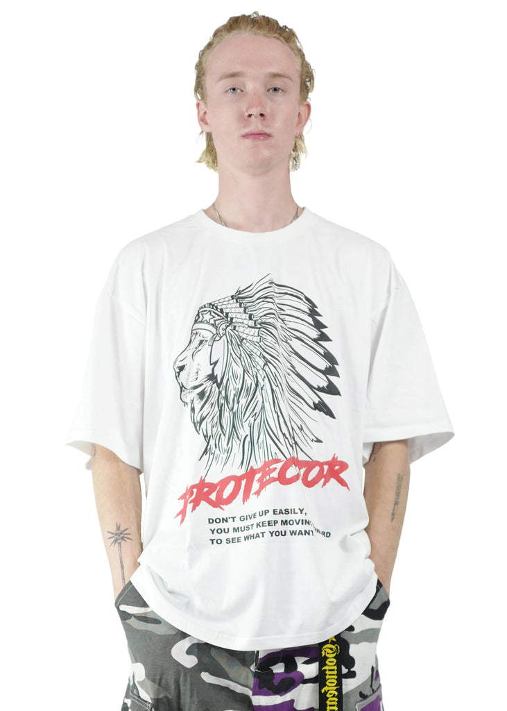 GNF Lion Chief Oversized Tee White
