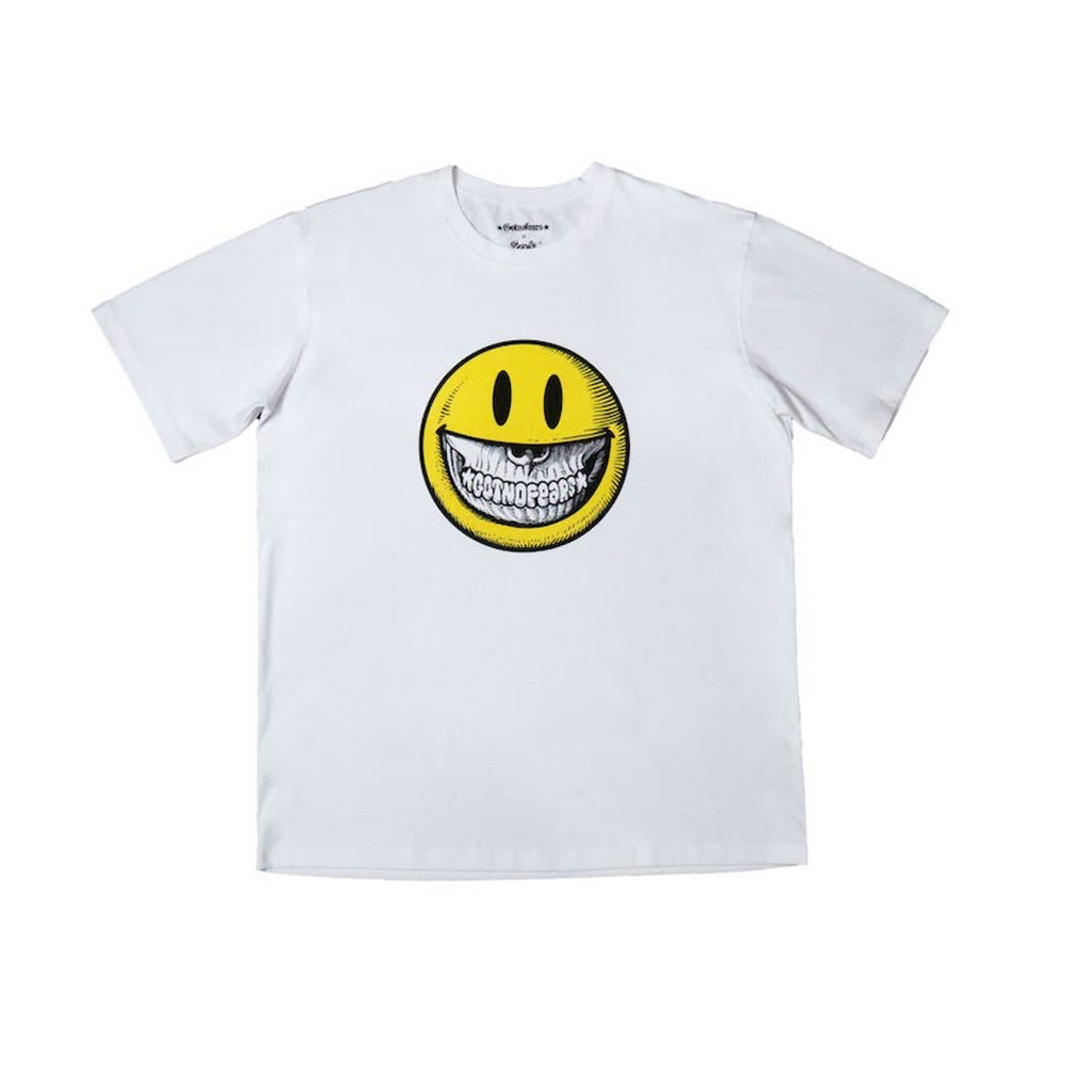 GNF x Ron English Smile Oversized Tee White