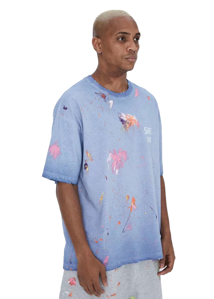 SAINT LOUIS SPLASH-INK TEE BLUE
