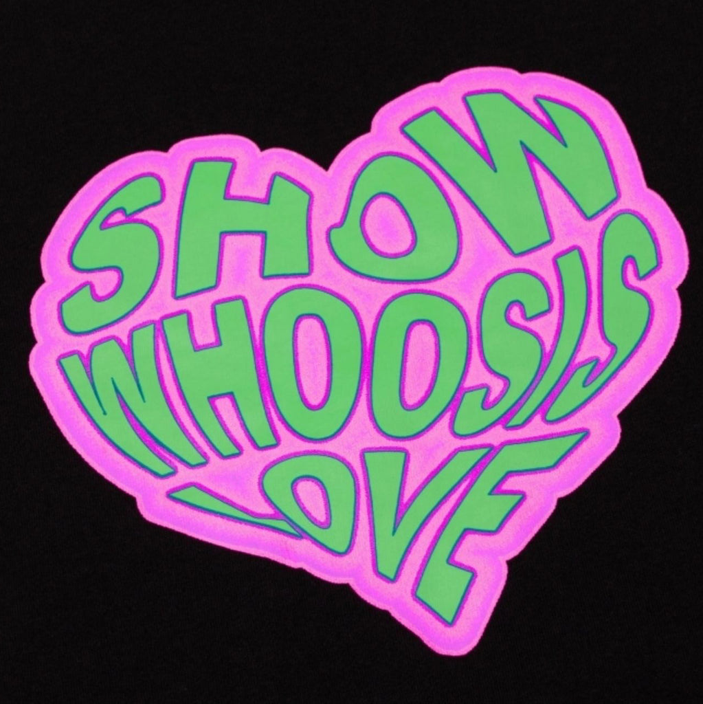 WHOOSIS Heart Tee Black