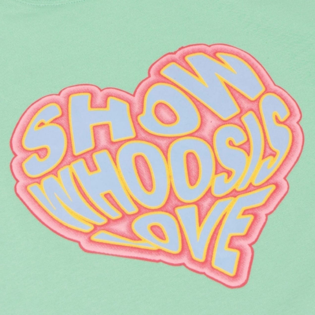 WHOOSIS Heart Tee Green