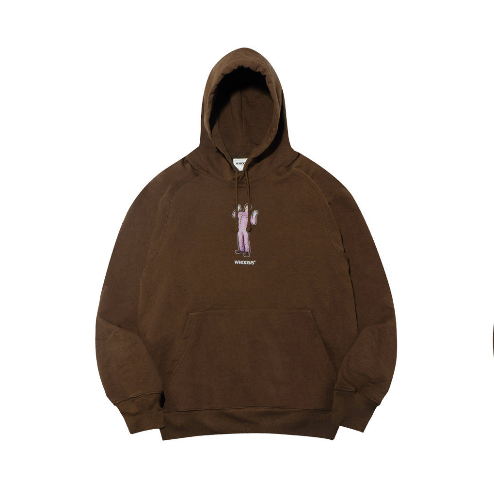 WHOOSIS Thermal Image Hoodie Brown