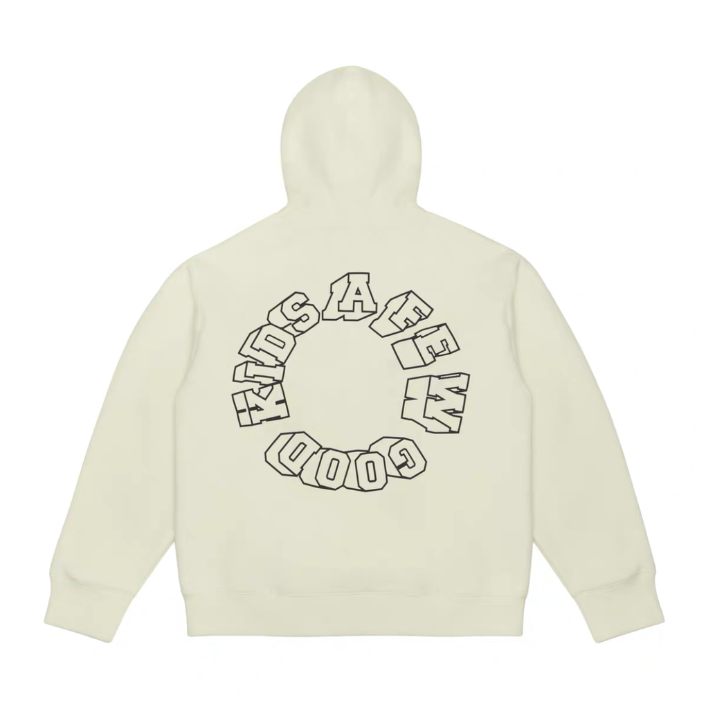 AFGK Colored Logo Hoodie White