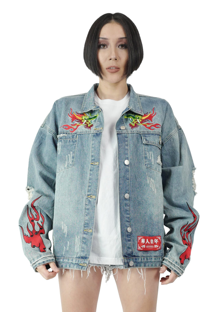 OCCUPY TIGER DENIME JACKET
