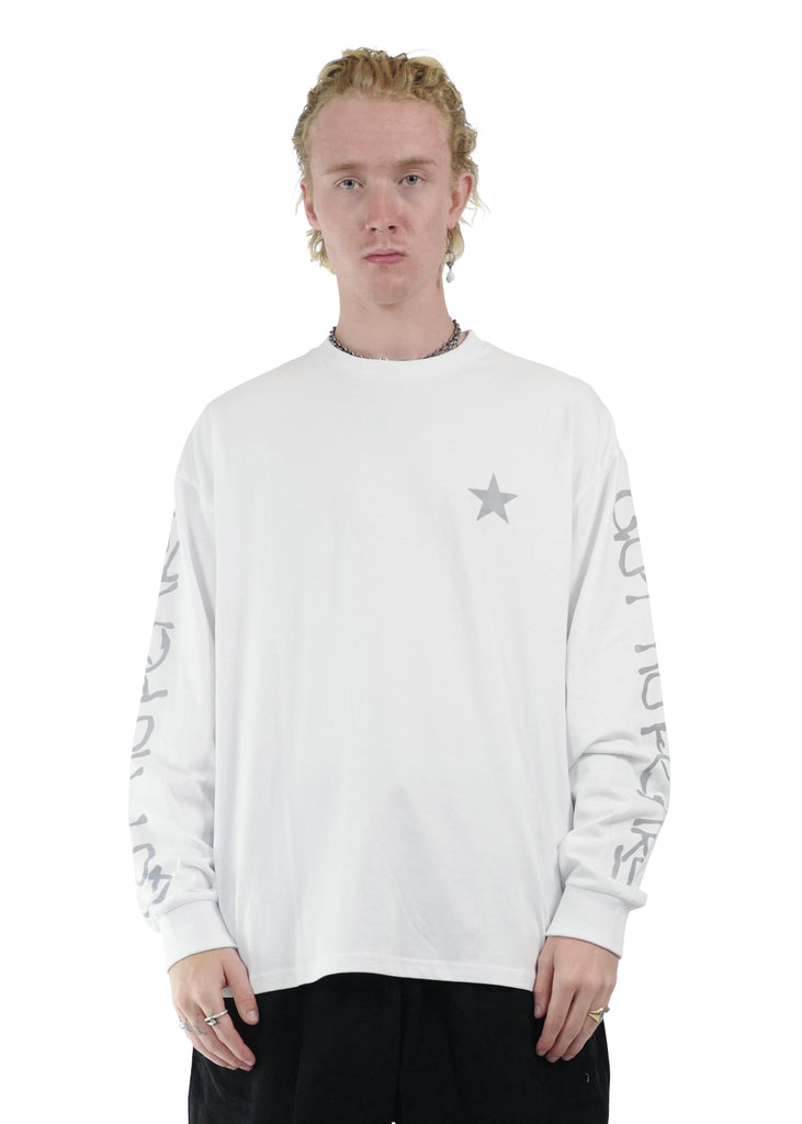 GNF Liquid Logo Long Sleeve Tee White