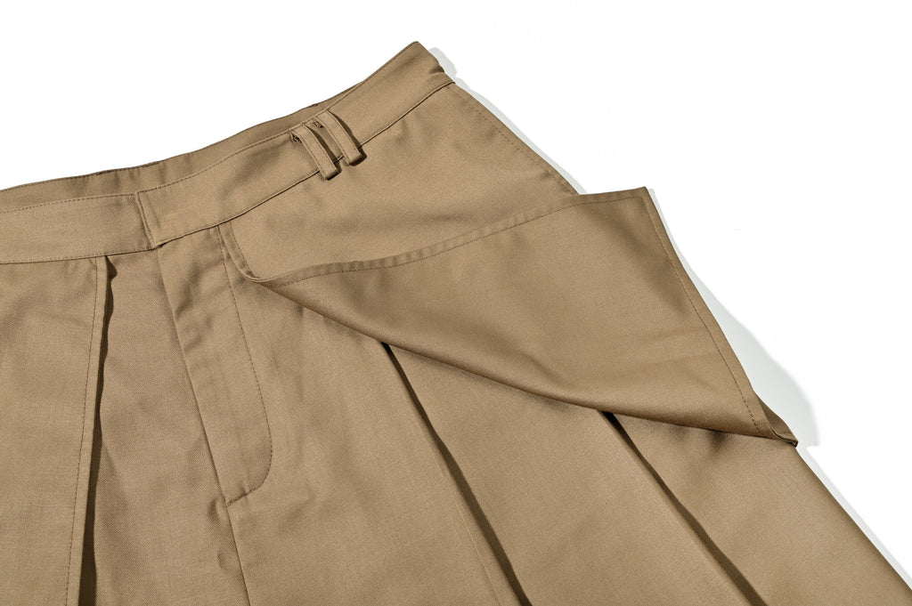NSTNonstop Loose-leaf  Stereoscopic Cutting Suit Pants Brown