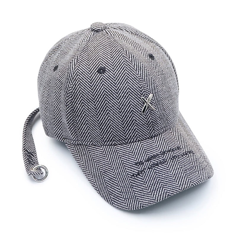 Xotic Tweed Longstrap Cap Gray Strip