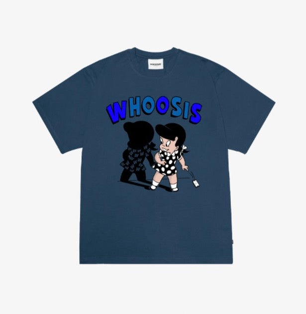 WHOOSIS Girl And Shadow Tee Blue