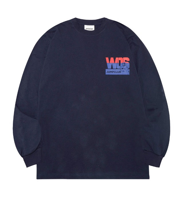 WHOOSIS Jump Club Long Sleeve Blue