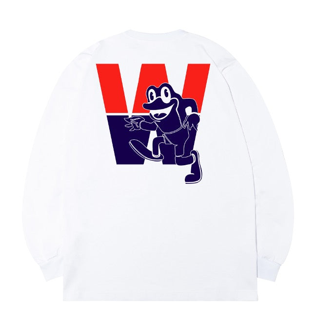 WHOOSIS Jump Club Long Sleeve White