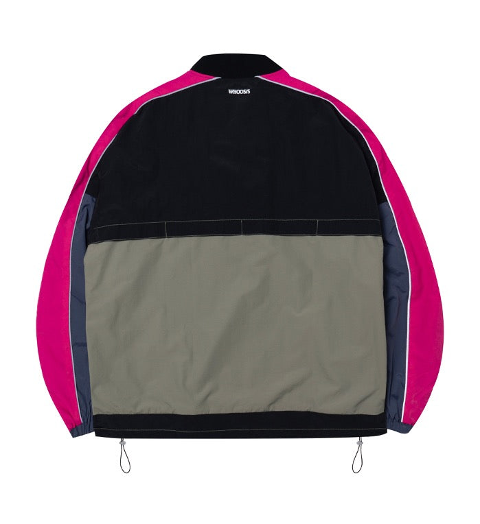 WHOOSIS Mixed Color Athletic Jacket