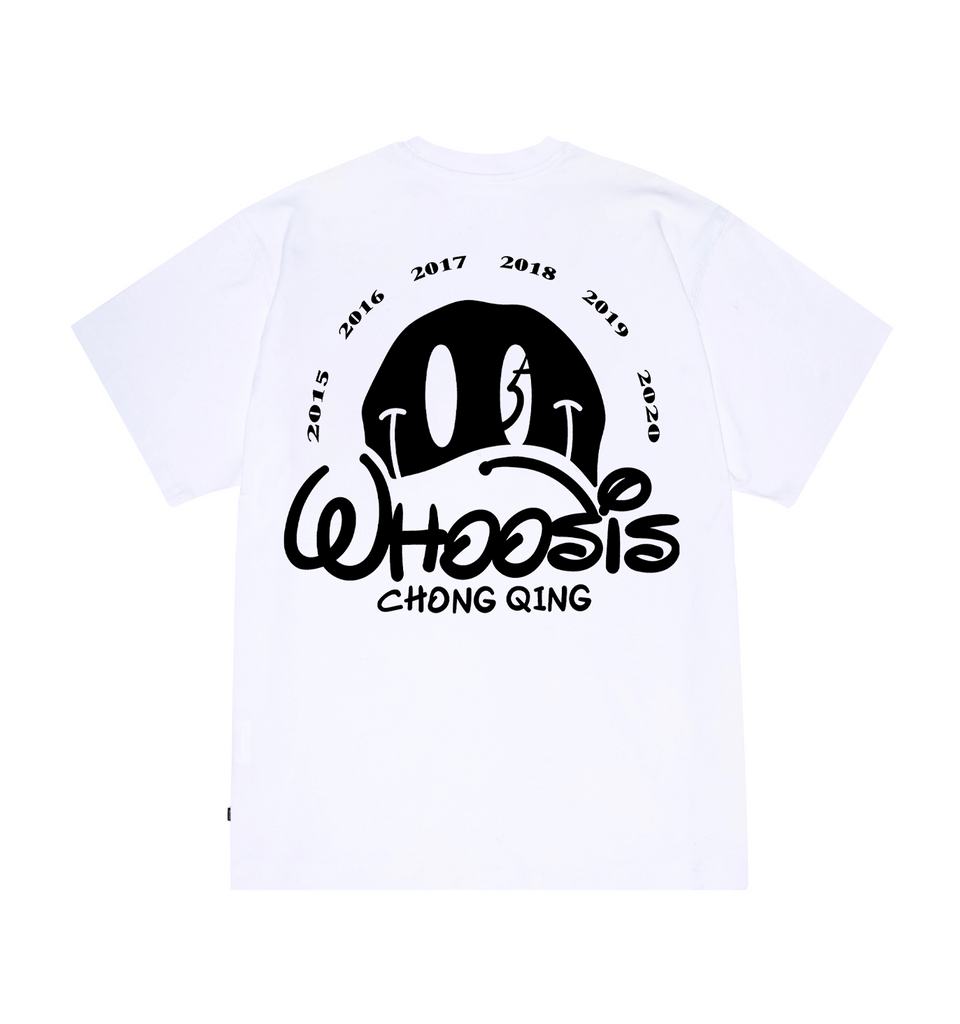WHOOSIS Smiley Face Tee White