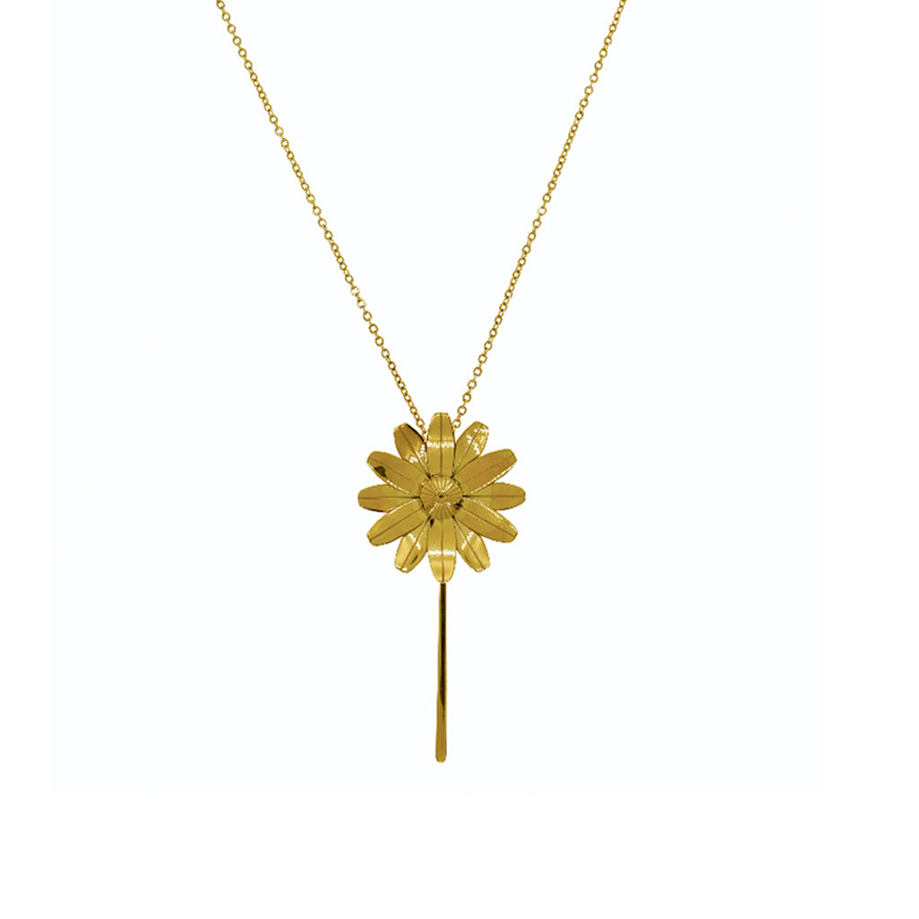 LURS Rotatable Daisy Necklace Gold